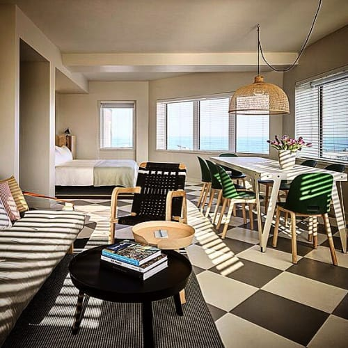 Chairs by Pacific Wonderland Inc seen at The Asbury Hotel, Asbury Park - Leather Palapa Lounge Chair