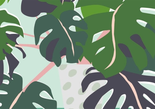Paintings by Gabby Leon seen at Private Residence, London - Monstera Plant print