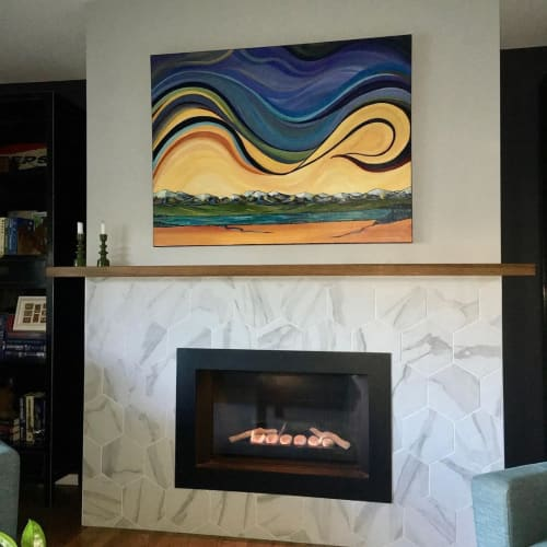 Paintings by Janifer Calvez seen at Private Residence, Calgary - Abstract Painting