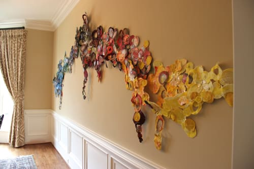 Wall Hangings by Leisa Rich seen at Private Residence, Atlanta - Knowledge Overcomes Ignorance As Sunlight Darkness
