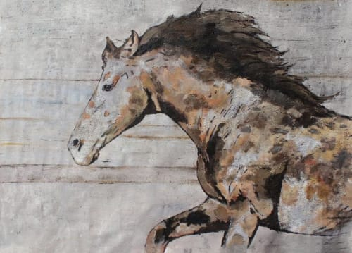 Natural Rustic Horse Oil Painting on Canvas | Paintings by Irena Orlov