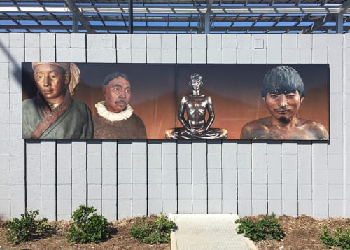 Photography by Ken Gonzales-Day seen at LAPD Metro Station, Los Angeles - Metro Division Public Art Project