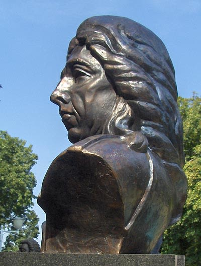 Public Sculptures by Linda-Saskia Menczel seen at Parcul Central Anton von Scudier, Timișoara - Bust of Prince Eugene of Savoy