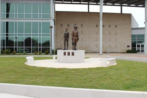 Public Sculptures by Daniel Borup Studio seen at 911 Quest Pkwy, Cedar Park - Public Safety Memorial