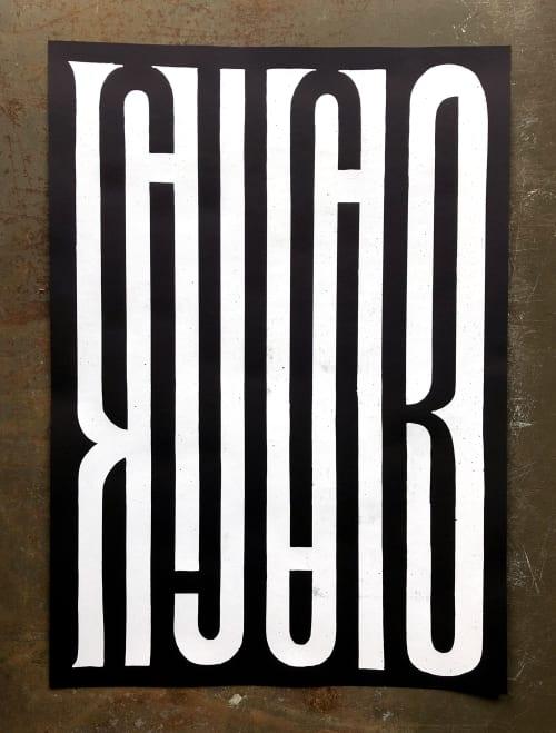 Art & Wall Decor by Guido de Boer seen at Private Residence, Copenhagen - Two different screenprints
