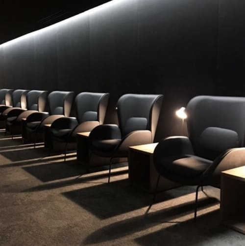 Chairs by Arnau-Reyna design studio seen at Sala VIP Avianca - Norman