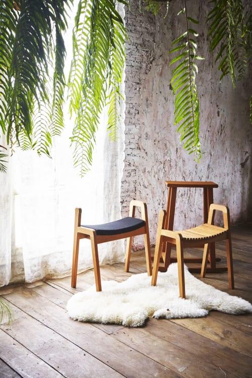 Chairs by Deesawat seen at Deesawat Industries Company Limited, Khwaeng Talat Bang Khen - Brace Stool