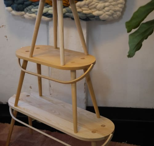 Chairs by Yvonne Mouser seen at Wescover Gallery at West Coast Craft SF 2019, San Francisco - Double / Bucket Stool