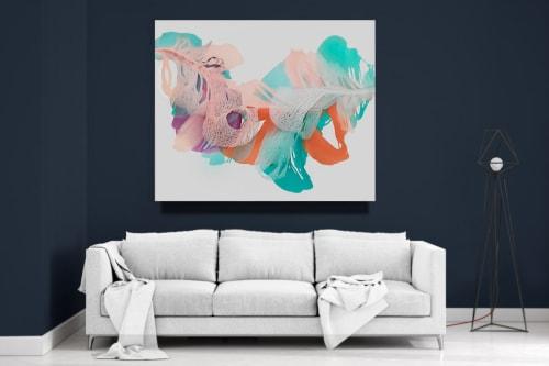 Paintings by Marta Spendowska seen at Marta Spendowska LLC, Portsmouth - Abstract Flora : After Hildegard 52X45