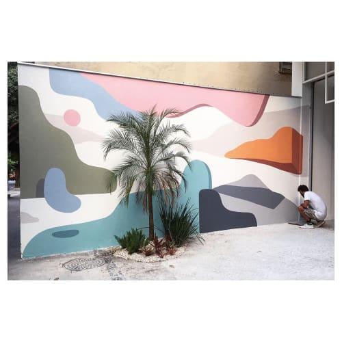Murals by Rafael Uzai seen at Ipanema, Ipanema - Painting in the street