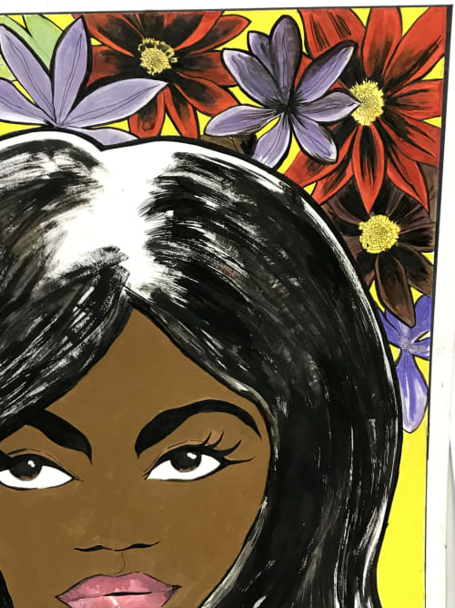 Murals by Rich T. seen at Harlem, New York - Woman/Women's Month.