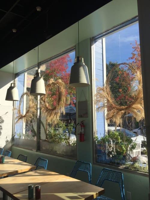 Pendants by Bloomingville seen at Stockhome Restaurant, Petaluma - Restaurant Lighting
