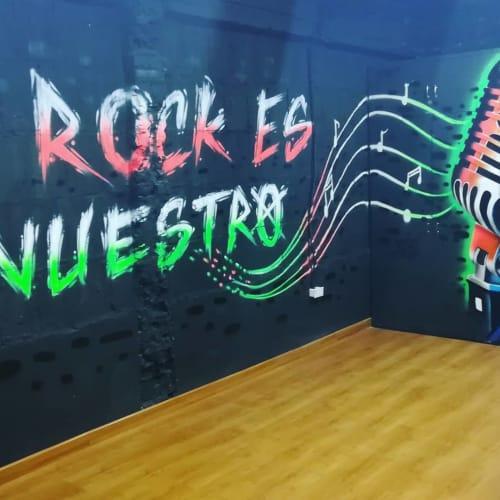 Murals by Miguel Klos seen at El Toke - Salas De Ensayo, Bogotá - Indoor Mural