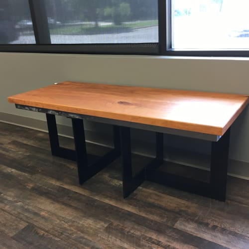 Furniture by Amie Jacobsen Art and Design at Blackstone Environmental, Inc., Overland Park - Reception Desk and Bench