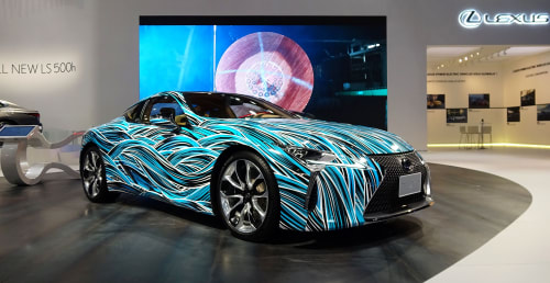 Architecture by Myneandyours seen at Intersect By Lexus - Dubai, دبي - Lexus LC500