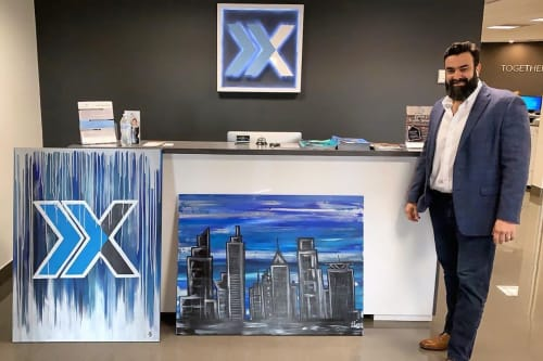Paintings by Laura Chirino seen at Xcellence Realty, Inc - Hubert N Walcott LCAM, Miami - Paintings