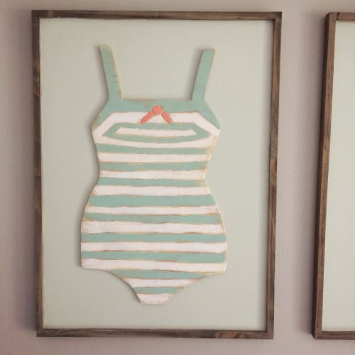 Wall Hangings by Megan Ballarini Sweet Lilly Doodles at Private Residence, Clearwater - Vintage Swimsuits