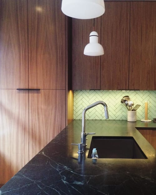 Furniture by Emmanuel Nicolaidis seen at Private Residence, Baltimore - Walnut Kitchen Cabinets