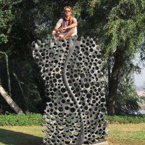 Public Sculptures by Matthias ContZen seen at UTTARAYAN ART FOUNDATION, Vadodara - Match Box Universe