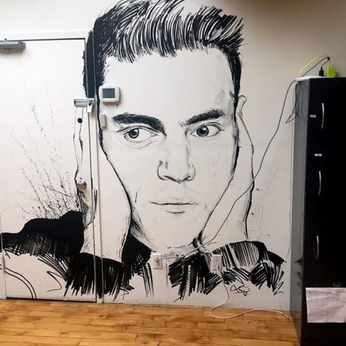 Murals by Chiba Creative seen at Broadway, New York - MWR mural project
