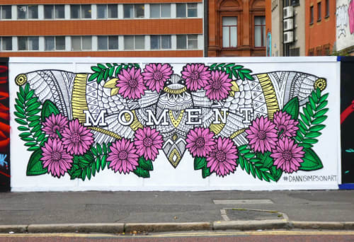 Murals by Danni Simpson Art seen at Belfast, Belfast - Moment Culture Night Belfast