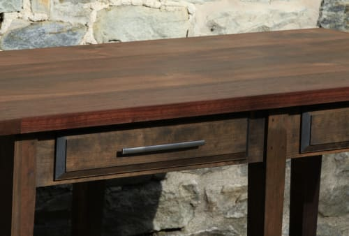 Tables by Miikana Woodworking at Andiario, West Chester - Walnut and Cherry Restaurant Serving Table