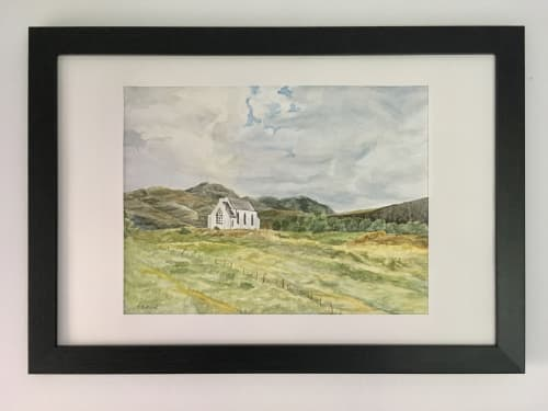 Paintings by Coleman Senecal Art seen at Private Residence, Seattle - Scottish white chapel painting