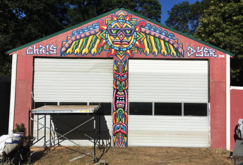 Murals by Chris Dyer seen at Humboldt County - Sunny Season
