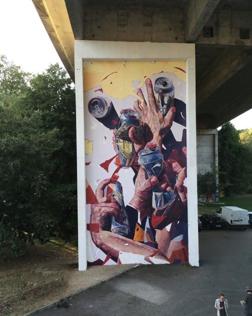 Street Murals by Oscar Maslard - SCKARO seen at Poitiers, Poitiers - 14x7 Meters Mural