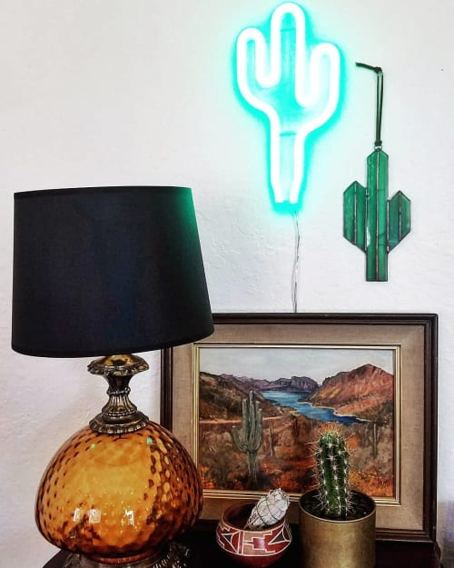 Sculptures by Brewer & Marr Glassworks seen at Private Residence, Fremont - Cactus Art