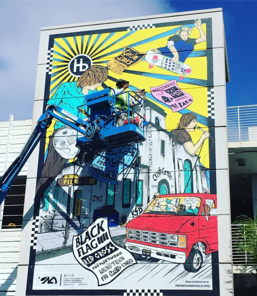 Murals by Vivache Designs at Private Residence, Hermosa Beach - Hermosa Beach Murals Project Mural #8