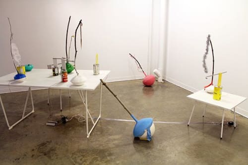 Sculptures by Pippa Lattey seen at Emily Carr University of Art + Design, Vancouver - Balloon Chorus