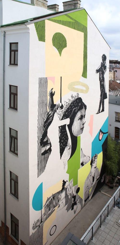 Murals by Käthe Schönle seen at Max Brown Hotel 7th District, Wien - #MAXVienna