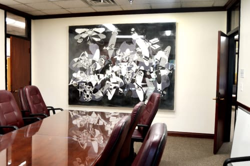 Paintings by Fausto Fernandez seen at New Mexico Economic Development, Santa Fe - Modern Advances Adapting to Nature