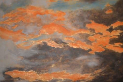 Paintings by Tara Andris seen at Private Residence, Lake Lotawana - Churning