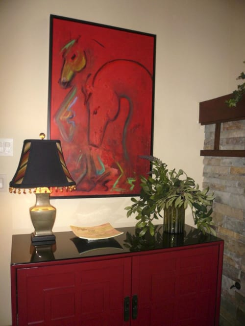 Paintings by Donna B Fine Art seen at Private Residence, McCall - Swan