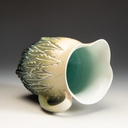 Tableware by Dow Redcorn Ceramics seen at In Tandem Gallery, Bakersville - Water Pitcher