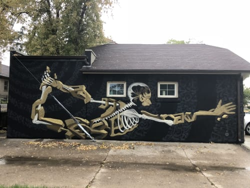 Murals by Bobby MaGee Lopez seen at Denver Chiropractic LLC, Denver - Stone and Bone