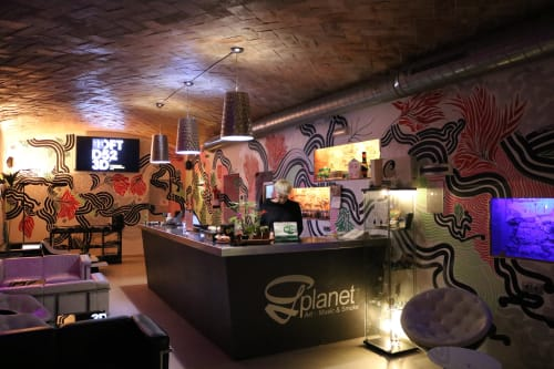 Murals by Habit 701 seen at Placeta Sant Francesc, 2, Barcelona - G Planet Mural