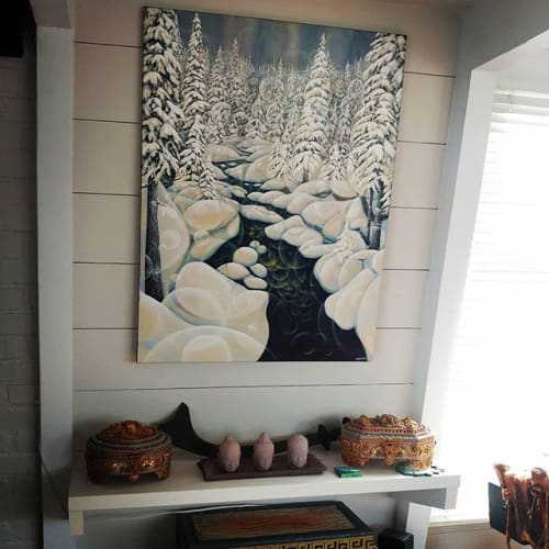 Paintings by Mary Pines Art seen at Private Residence, San Francisco - Callaghan Magic