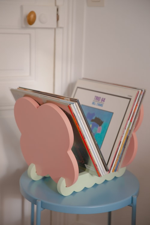Furniture by Bougie Woogie seen at Private Residence, Paris - Panot Vinyl Records Holder