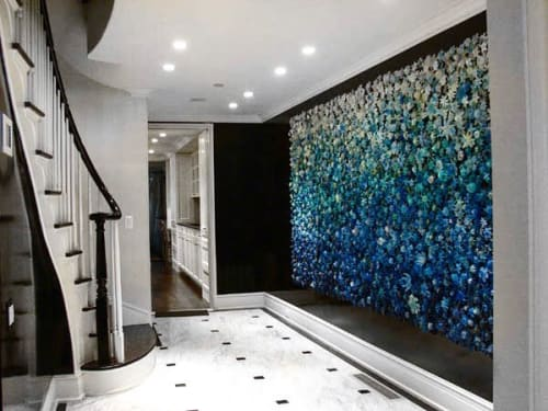"""Art & Wall Decor by Carson Fox Studio seen at Private Residence, Brooklyn - """"Blue-Green Gradient"""""""