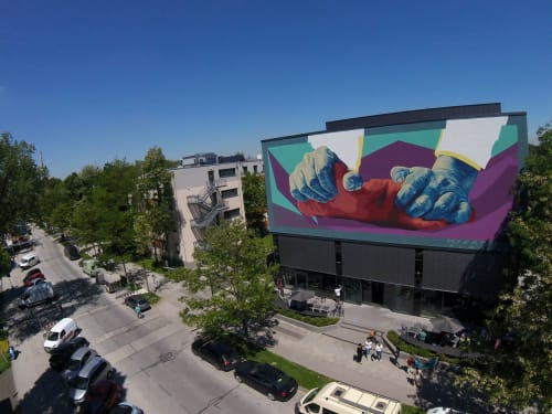Murals by Myers Alan seen at Munich, Munich - Munich Art District - by MUCA