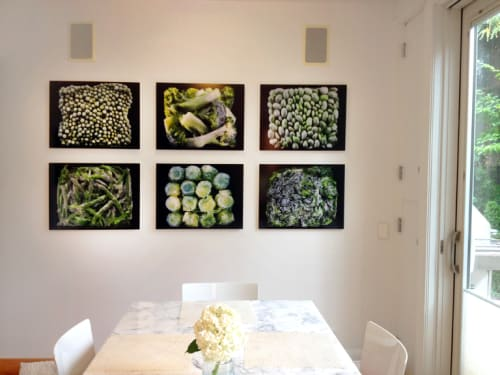 Photography by Chris Becker Photo seen at Private Residence, Chicago - Frozen vegetable series