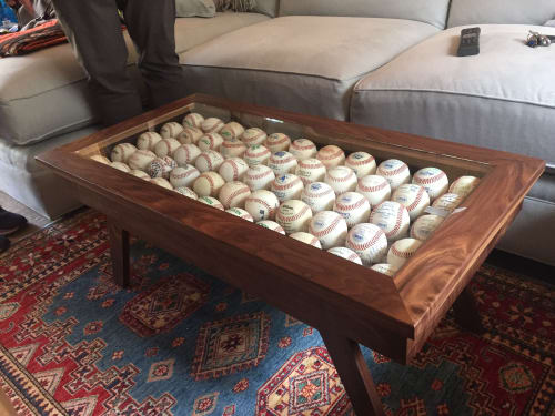 Tables by Michael Finizio | Fine Woodworking seen at Private Residence, Carmel-by-the-Sea - Curio Coffee Table