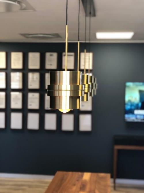 Interior Design by ERNST H. seen at IJG, Windhoek - Rinkø pendant lamp in brushed brass.