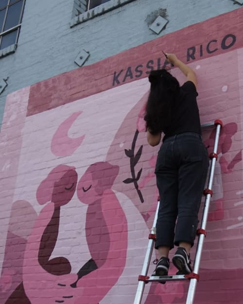 Street Murals by Kassia Rico seen at Downtown Los Angeles, Los Angeles - Wall Mural