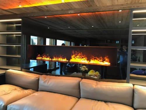 Fireplaces by GlammFire seen at Verbier, Verbier - Kit Glamm 3D Plus