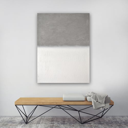 Paintings by Nicolette Atelier - Abstract Concrete No. 4. White Field