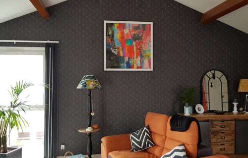 """Paintings by Xiaoyang Galas seen at Private Residence, Bourg-en-Bresse - """"Culture"""""""